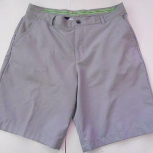 IZOD Mens Golf Classic Fit Shorts Gray 34